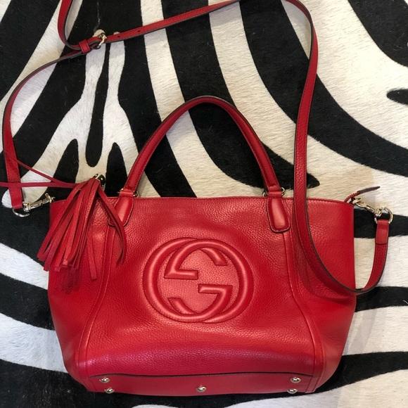 da1af8b75 Gucci Bags | Soho 2 Way Convertible Satchel Crossbody | Poshmark